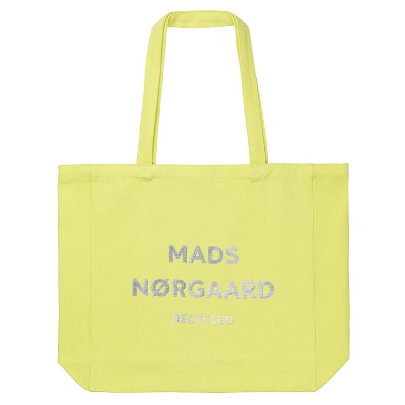 Mads Nørgaard Shopper, Athene Recycled, Lime/Silver